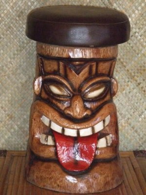 Superb Tiki Bar Stool 2302 Red Seat Gmtry Best Dining Table And Chair Ideas Images Gmtryco