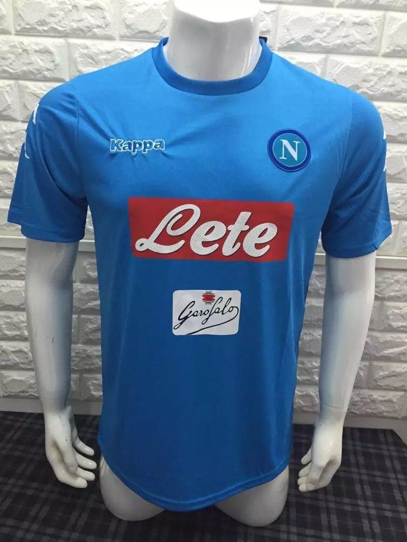 16/17 Napoli Home Soccer Jersey Shirt Football Sport Tee