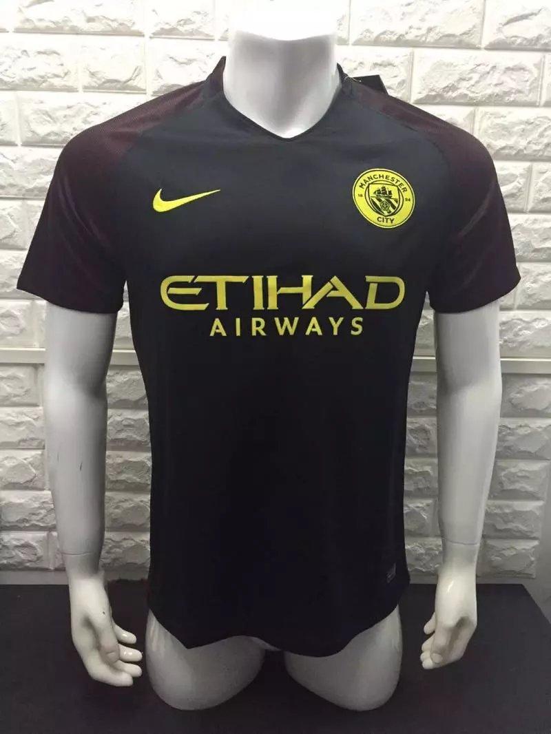 16/17 Man City Away Soccer Jersey Shirt Football Sport Tee