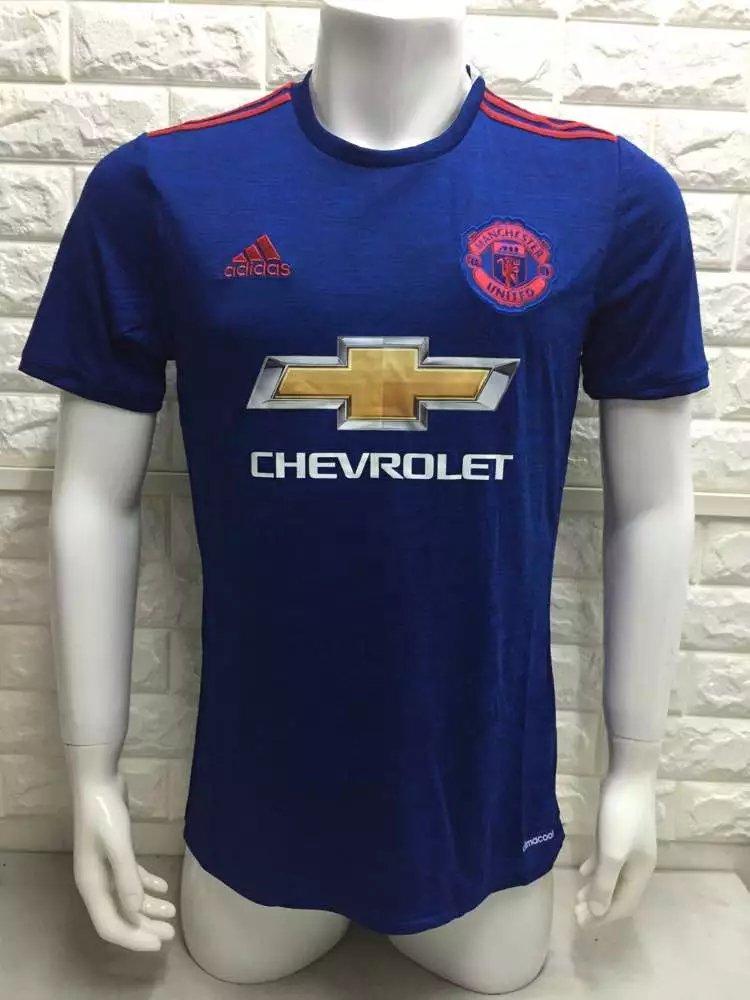 16/17 Man Union Away Soccer Jersey Shirt Football Sport Tee