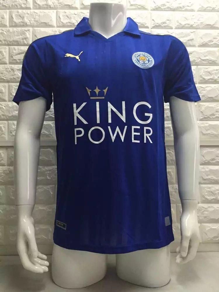 16/17 Leicester City Home Soccer Jersey Shirt Football Sport Tee