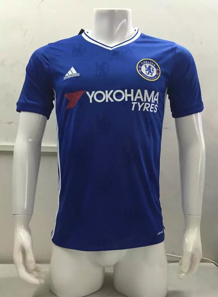 16/17 Chelsea Home Soccer Jersey Shirt Football Sport Tee