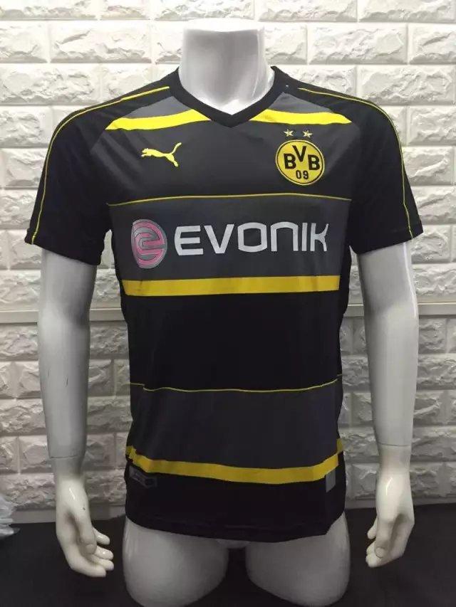 16/17 Dortmund Away Soccer Jersey Shirt Football Sport Tee