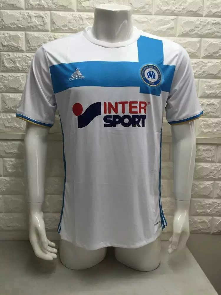 16/17 Marseille Home Soccer Jersey Shirt Football Sport Tee