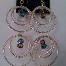 Silver Hoop & Crystal Earrings