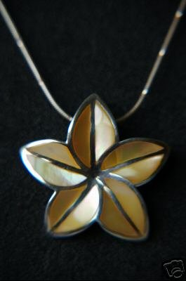 925 Silver Yellow Flower Necklace