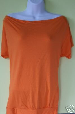 ORANGE BLOUSE WITH UNIQUE BACK DESIGN