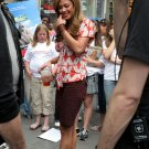Vanessa Minnillo 8x10 Photo - Black Short Skirt, Open Toe Platfors Candid! #27