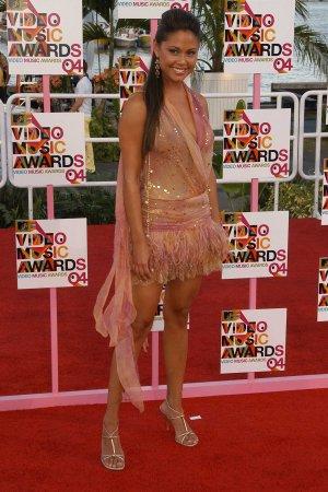 Vanessa Minnillo 8x10 Photo - MTV VMA '04 C-THRU ~MUST HAVE~ TOP SLIP Candid! #44