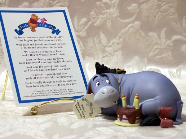 Pooh & Friends Eyore's Birthday Figurine