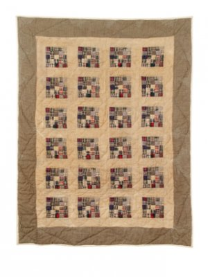 Vintage Style Tea Stained Quilt