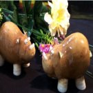 "Enesco "" Home Grown Hippo Salt & Pepper Shakers"