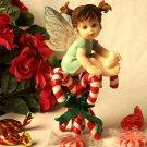 """My Little Kitchen Fairires """" Kitchen Fairy Candy Cane Fairy"""" Figurine"""