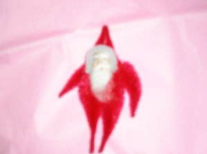 Chenille Santa RED 3.75 inches cotton beard