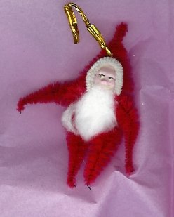 Chenille Santa RED 3.35  inch  clay face
