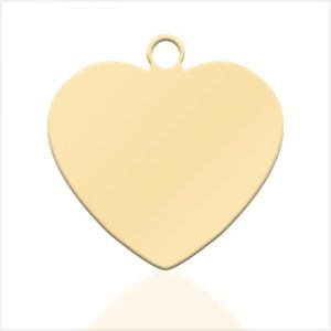 Small heart pendant - Gold plated - Picture or Text