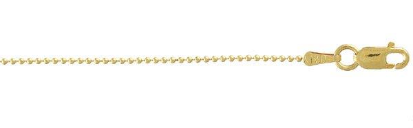 18 inch 14 K Gold Ball Chain