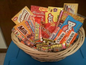 Retro Candy Gift Basket