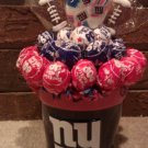 New York Giants Lollipop Bouquet