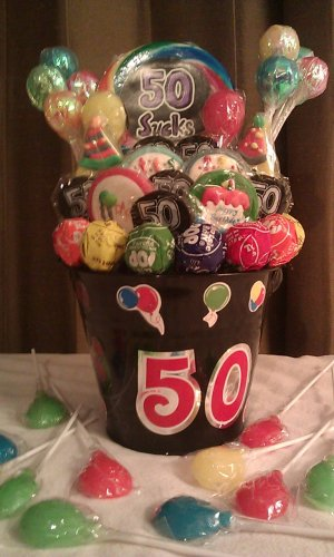 50th Birthday Lollipop Bouquet
