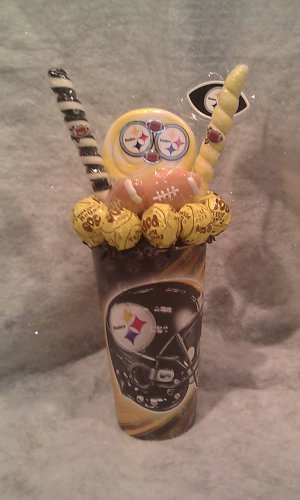 Pittsburgh Steelers Lollipop Cup Bouquet