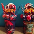 Spiderman Lollipop Bouquet