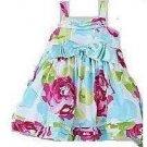 Cute Infant Girl's Big Bow Floral Dress - sz 3T