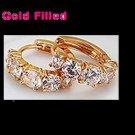 Cute Rose Gold Filled Women & Girls Nickel Free  zircon  Hoop Earrings 18mm