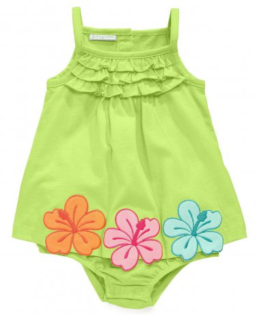 First Impressions Baby Girls Hibiscus One Piece Bodysuit
