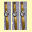 Cute Hot Yellow Hello Kitty  Ladies/Girls Crystal Quartz Big  Wrist watch