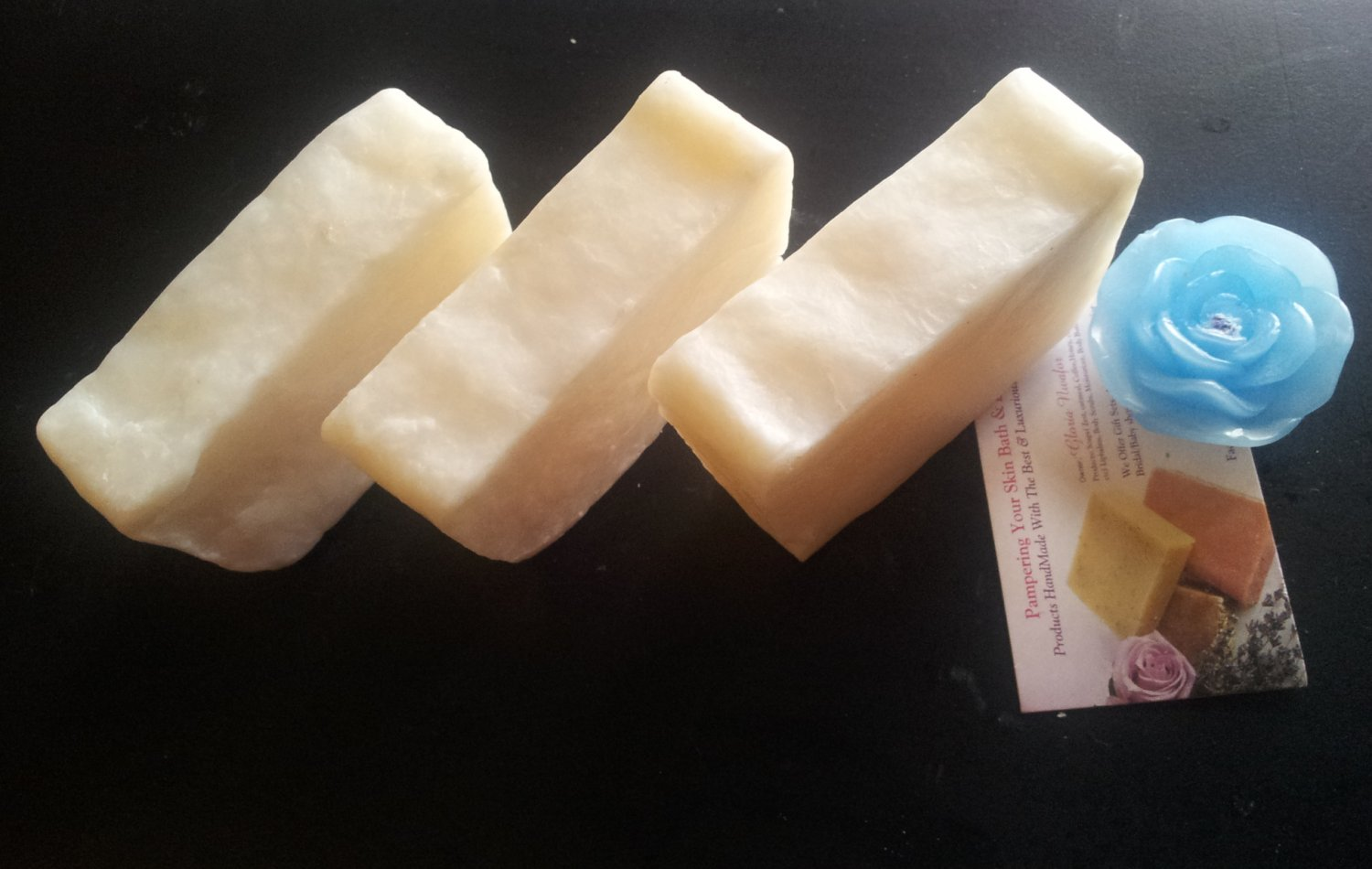 Handmade Soap -Skin Loving Homemade Hot Processed All Natural Plain Coconut Oil Soap . Mild Scent