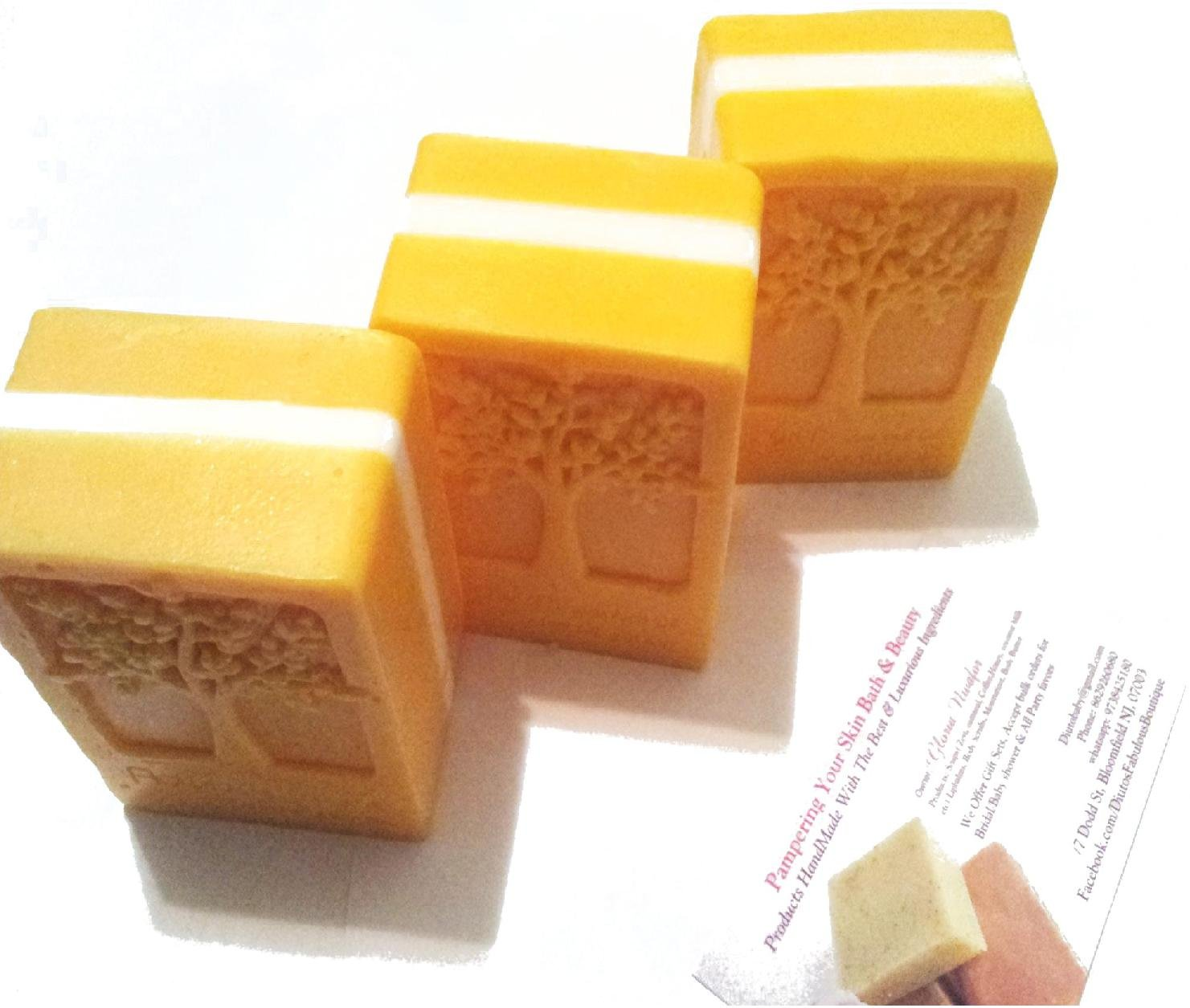 Enchanment Apple' Homemade All Natural Papaya Bar Soap