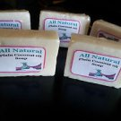 Homemade HP All Natural Plain Coconut Oil Soap - Hair & Skin