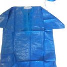 Men's African Embroidered Brocade Dashiki Royal Blue Shirt and Hat- XL