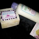 Homemade Natural Honey Oatmeal Bath Soap & Face / Body Lotion Combo- Unscented