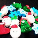 6 Pcs Christmas Holiday Theme Stocking Stuffers- Natural glycerin soap gifts