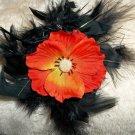 Poppy feather hair clip