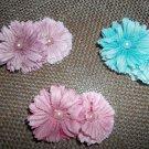 Vintage flower clips