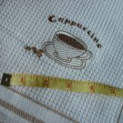 Cappuccino Cup Embroidered Kitchen Towel Waffle Weave