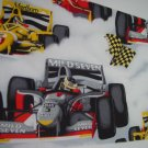 Racing Cars Valance, Boy's room window curtains valance