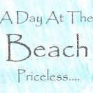 A Day At The Beach Wood Sign 9x12