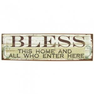 Bless This Home Tin Sign 18.5x5.5