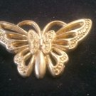 Gold-Toned Butterfly Brooch