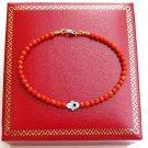 14 k gold coral shell hamsa hand evil eye charm bracelet
