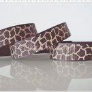 "1 Yard ""Brown & Tan Giraffe"" Grosgrain Ribbons, Zoo, Jungle, Wild Animal,Gift, R63"