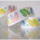 3 Yards Flip Flops Grosgrain Ribbons, Slippers, Sandals, Summer, Beach, Bow, New! R57