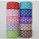 "20 Yards 5/8"" (16mm) Polka Dots Grosgrain Ribbons, Scrapbook, Crafts, S16"