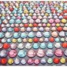 600 Colorful Rhinestones/ Acrylic Crystal Adhesive Sticker, 3mm, 4mm, & 5mm