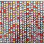 600 Colorful Rhinestones/ Acrylic Crystal Adhesive Sticker, 3mm, 4mm, & 5mm