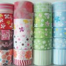 "20 Yard ""Garden"" Ribbon, Butterfly, Daisy, Flower, Floral, Spring, Hair Bow, Pony Tails, S14"